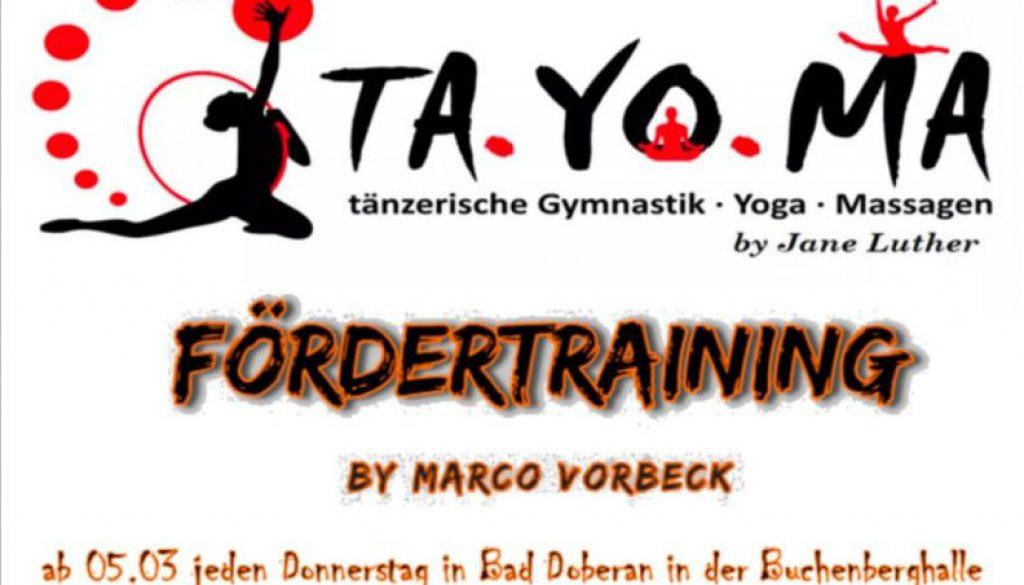Fördertraining by Marco Vorbeck